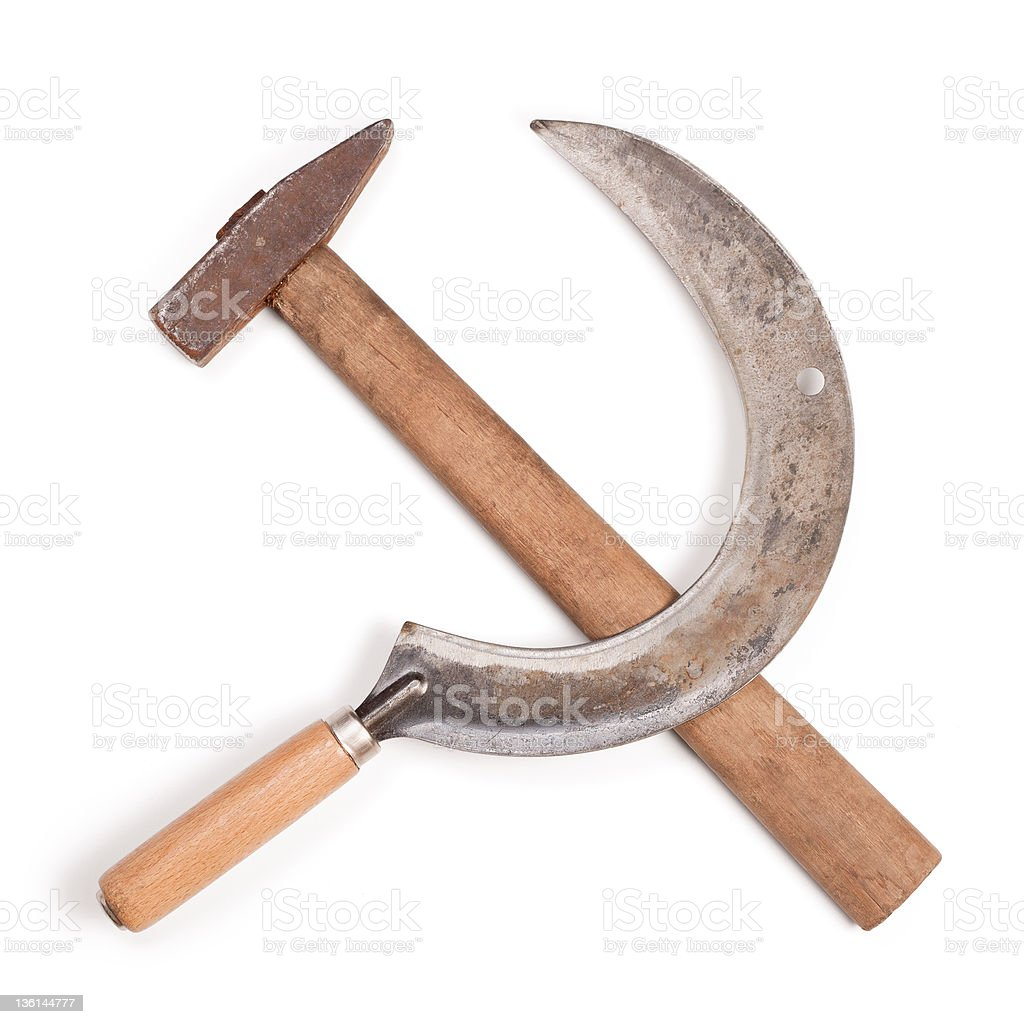 Hammer and sickle stock photo