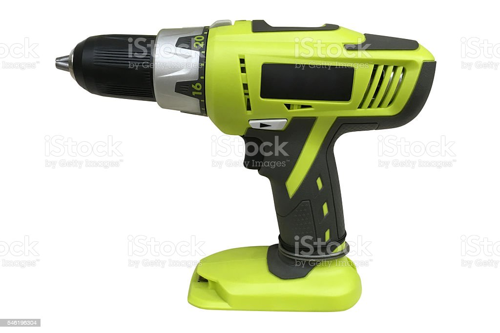 hammer drill isolated on white background stock photo