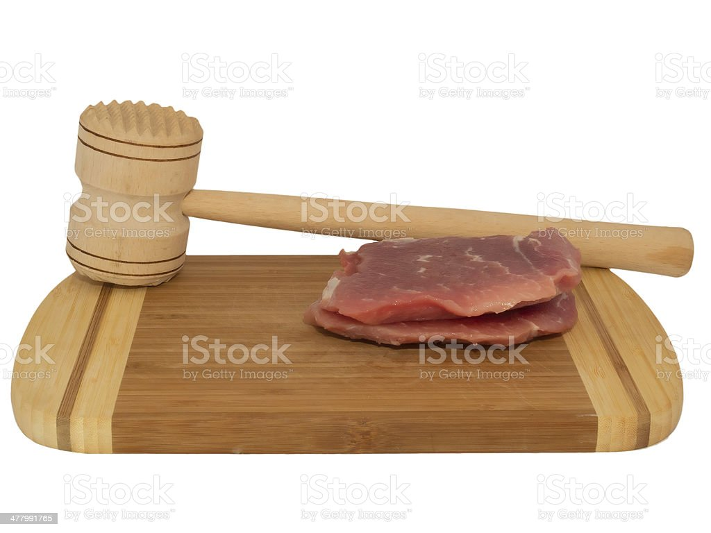 hammer for beating the meat royalty-free stock photo