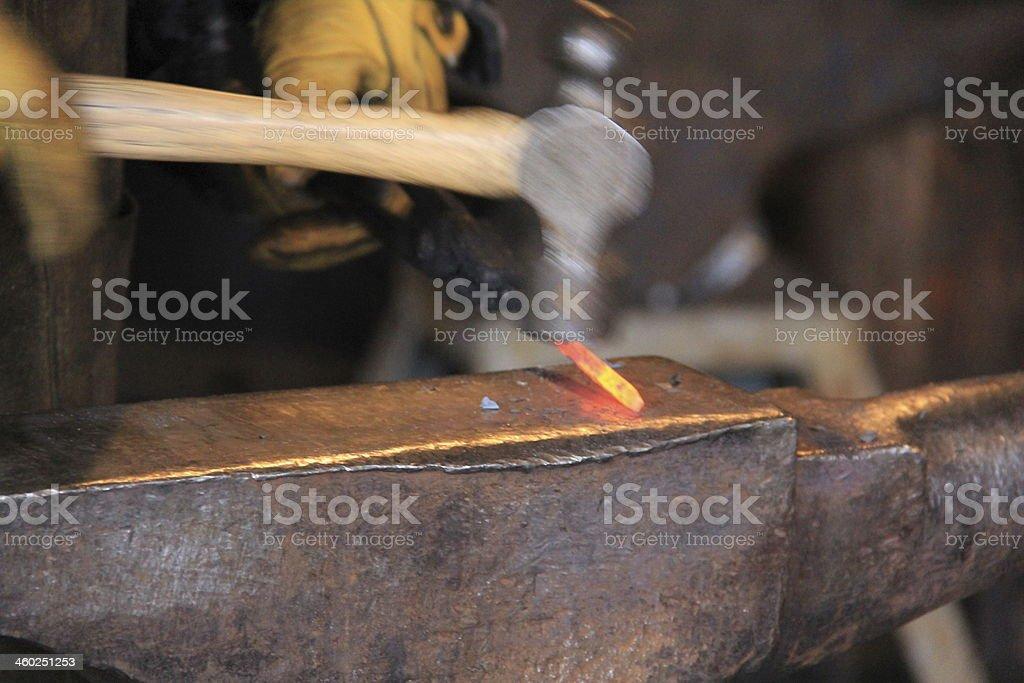 Hammer Hitting stock photo