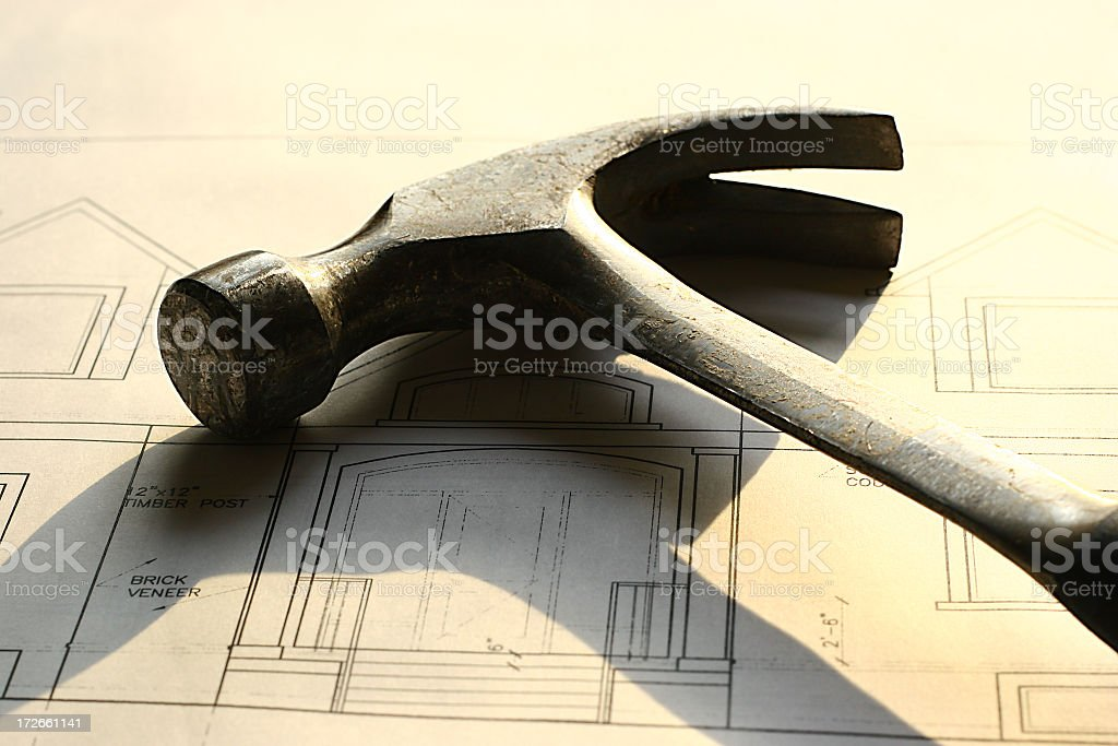 Hammer in Sunset's Glow royalty-free stock photo