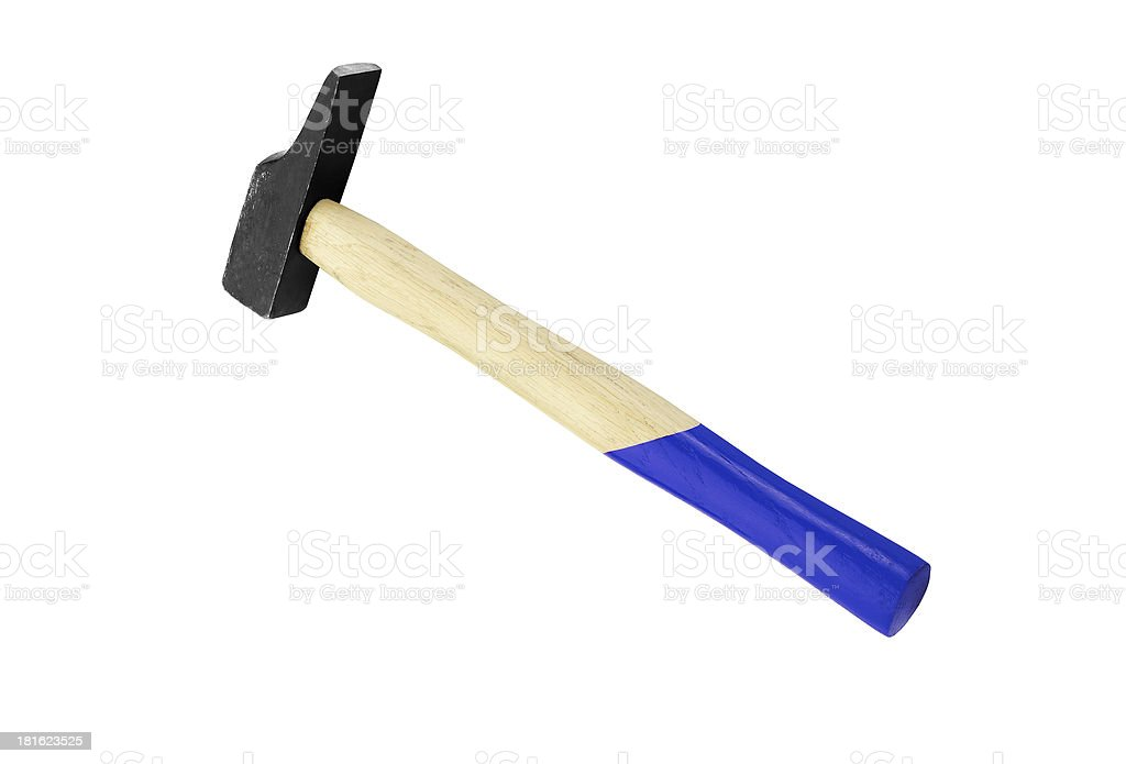 Hammer isolated on a white background stock photo