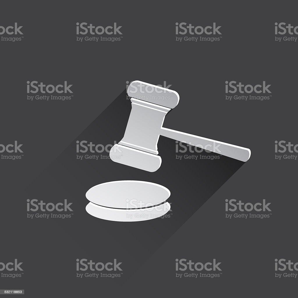 hammer judge web icon. stock photo