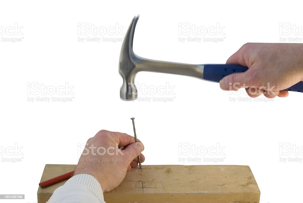 hammer - nailing stock photo