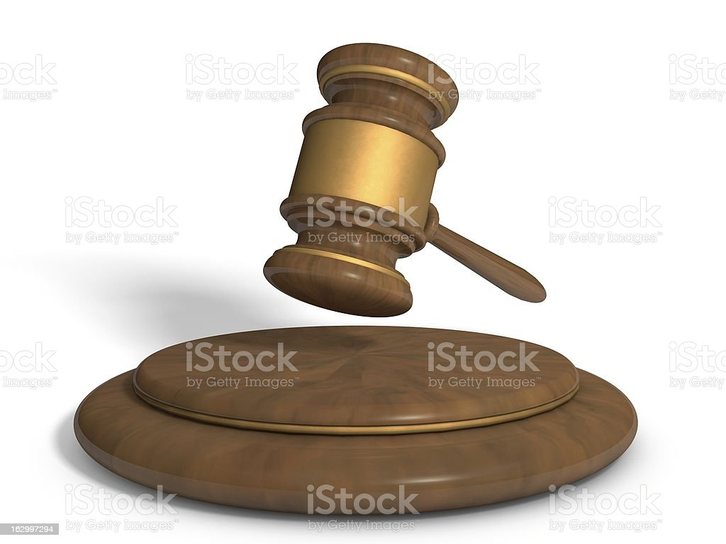 Hammer of justice stock photo