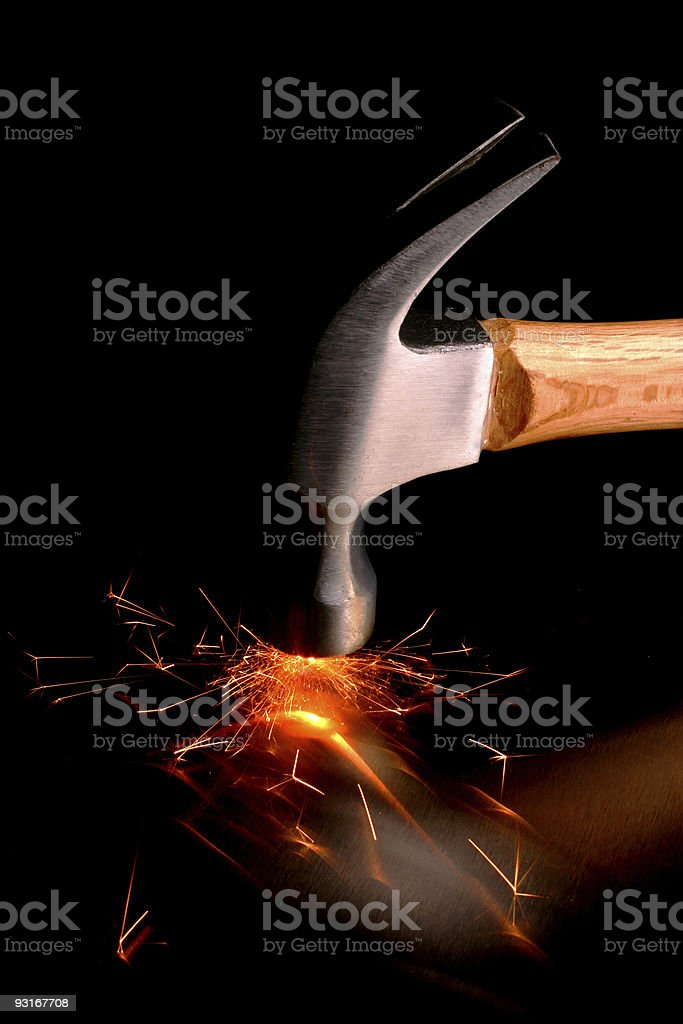 Hammer royalty-free stock photo