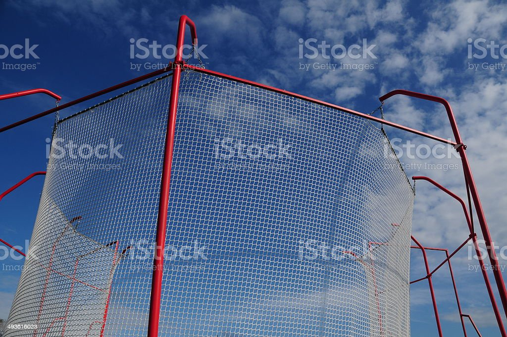 Hammer throw arena, U.K. stock photo