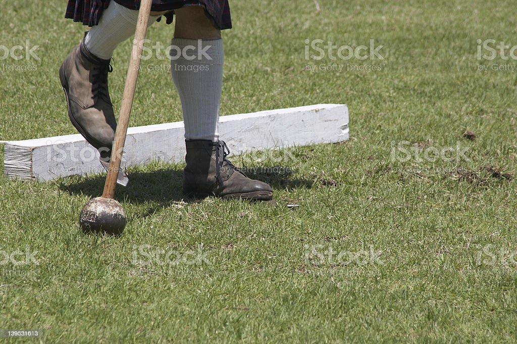 Hammer Toss - Highland Games stock photo