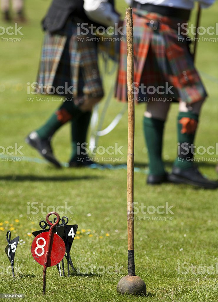 Hammer used at Highland Games Events in Scotland stock photo