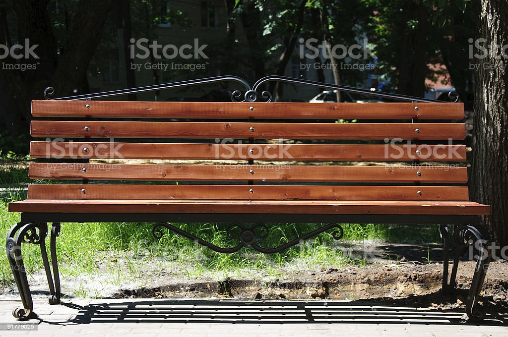 hammered bench royalty-free stock photo