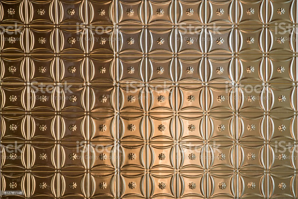Hammered Tin Ceiling Background stock photo