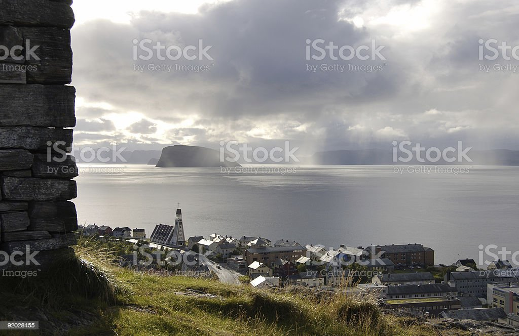 Hammerfest - Norway stock photo
