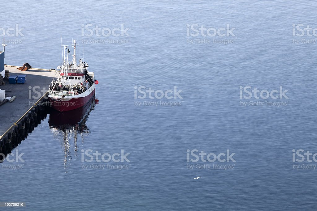 Hammerfest pontoon stock photo