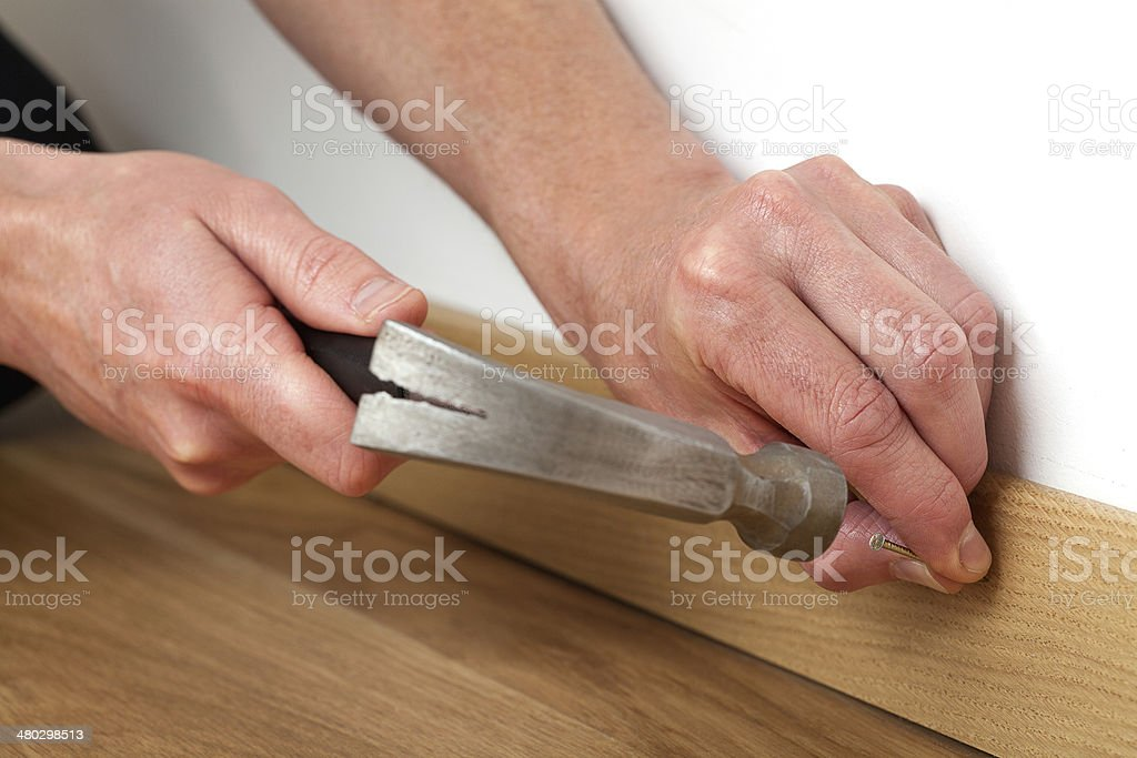 Hammering a nile royalty-free stock photo