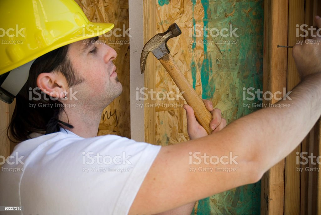 Hammering Worker royalty-free stock photo