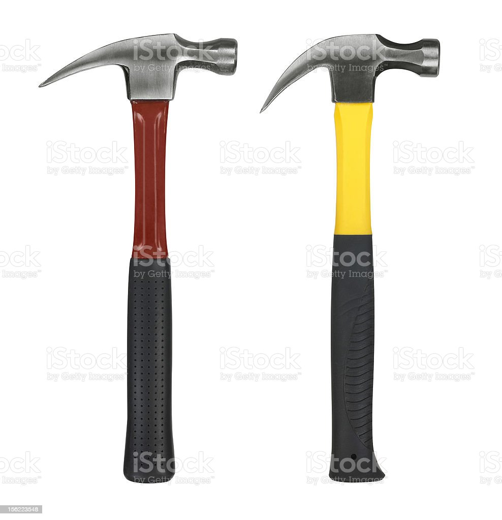 Hammers isolated on white background royalty-free stock photo