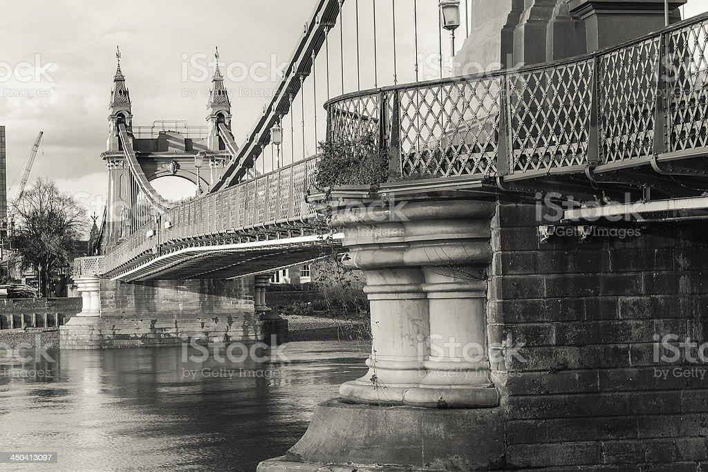 Hammersmith Bridge royalty-free stock photo