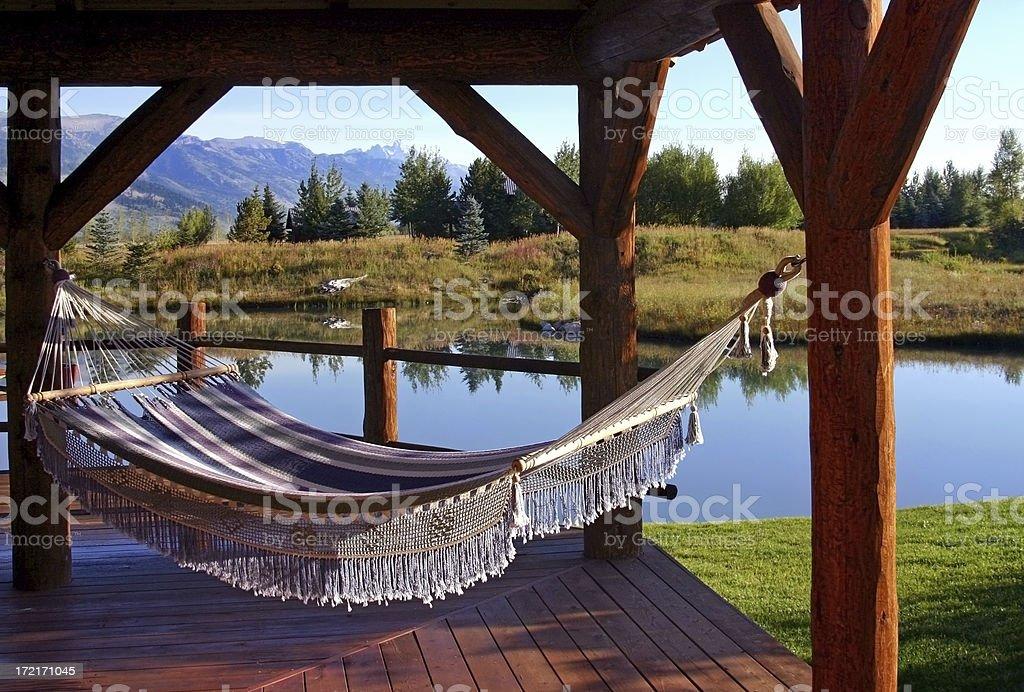 Hammock by the Lake royalty-free stock photo