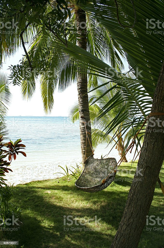 hammock by the sea philippines beach royalty-free stock photo