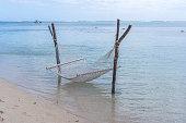 Hammock in the ocean, Mauritius