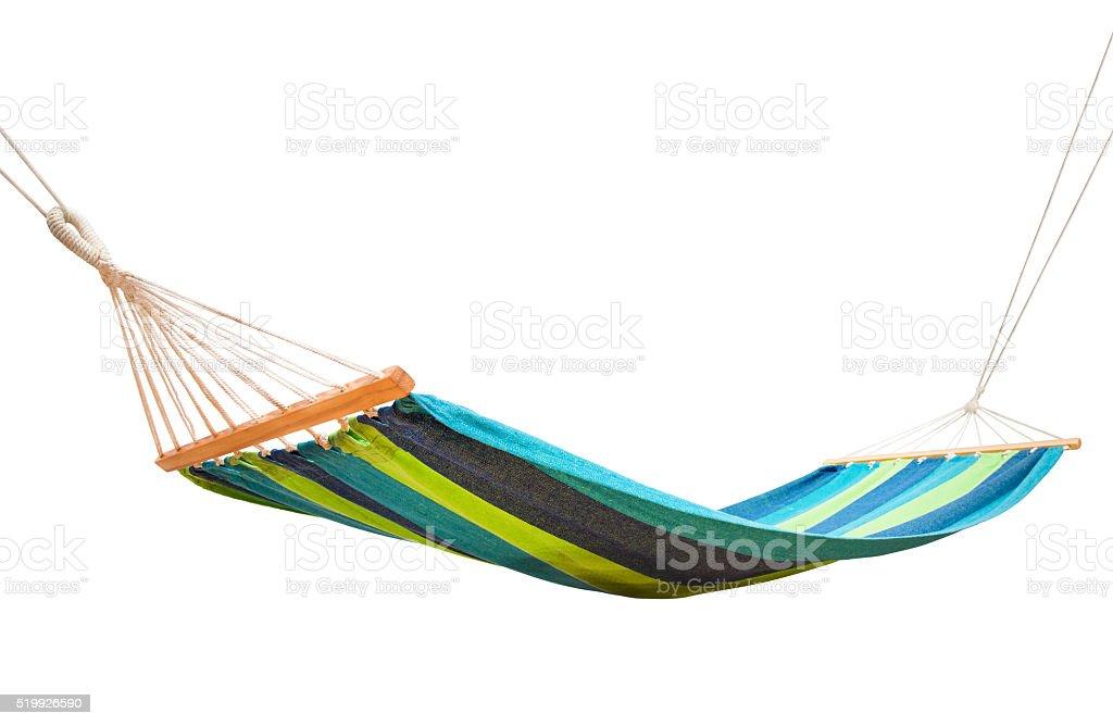 hammock isolated on white stock photo