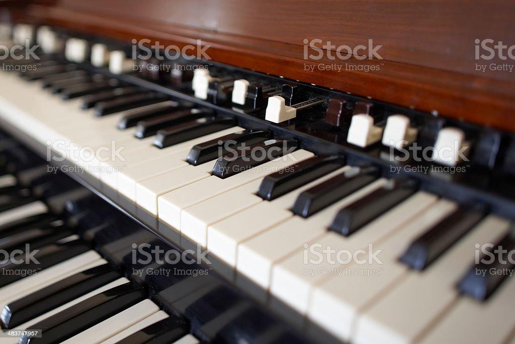 Hammond organ B3 stock photo