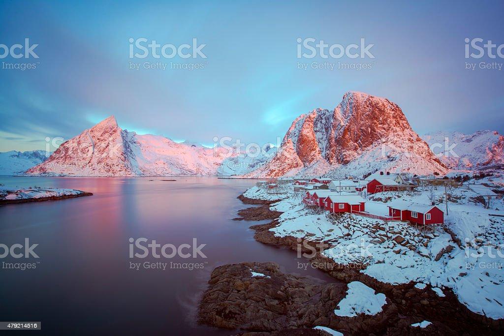 Hamnoy, Lofoten islands stock photo
