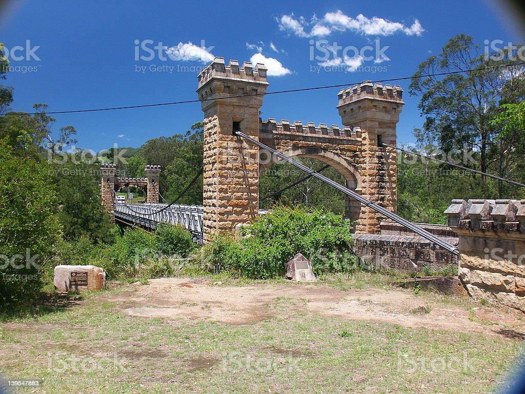 Hampden Bridge Kangaroo Valley, New South Wales stock photo