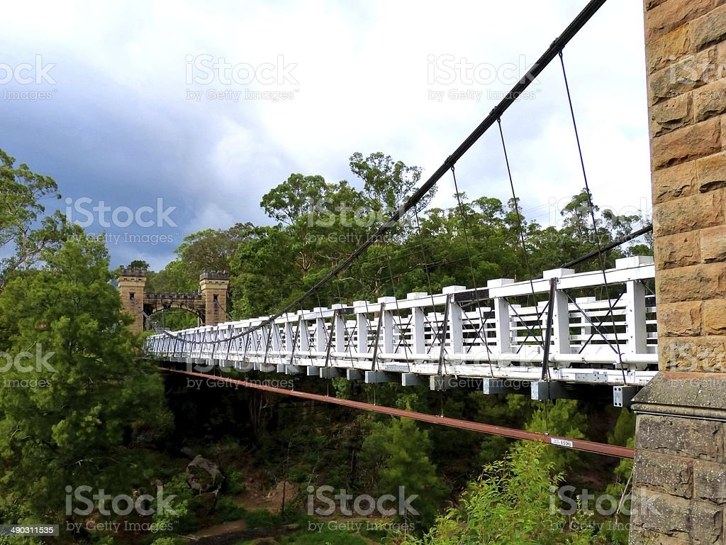 Hampden Bridge, Kangaroo Valley stock photo