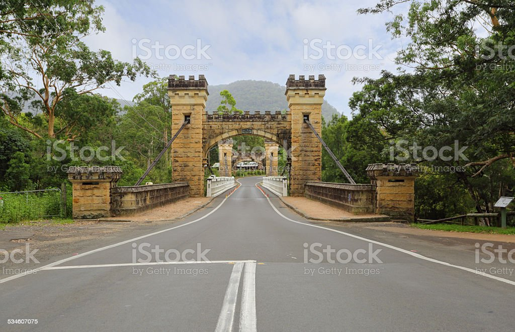 Hampden Bridge Kangaroo Valley stock photo
