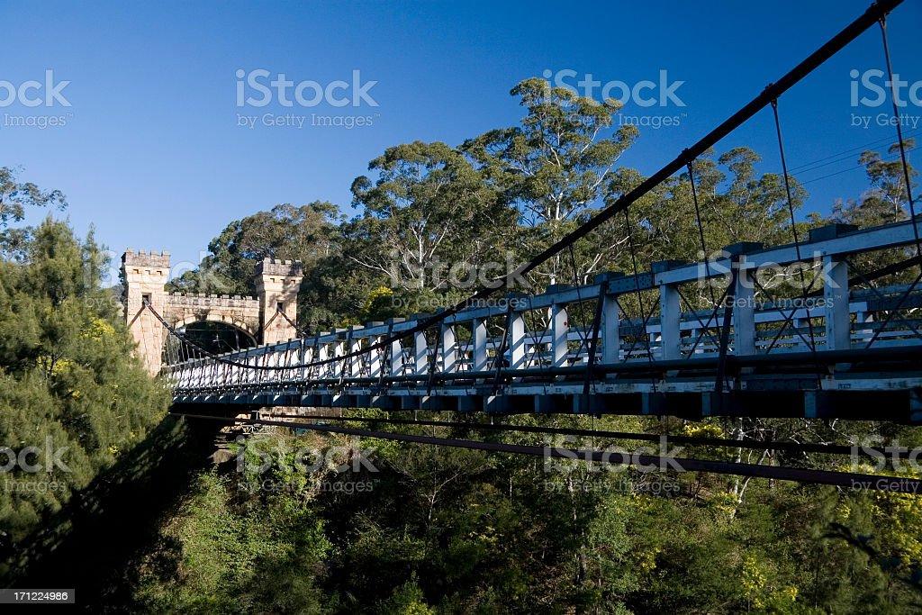 Hampden bridge stock photo