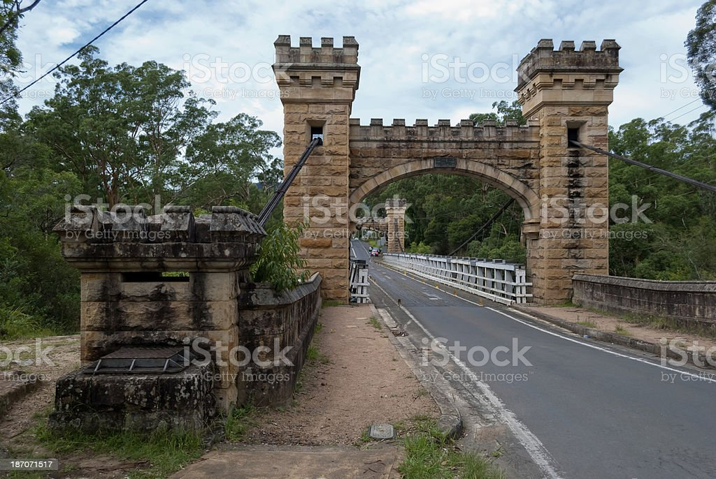 Hampden Bridge,Kangaroo Valley, Australia stock photo