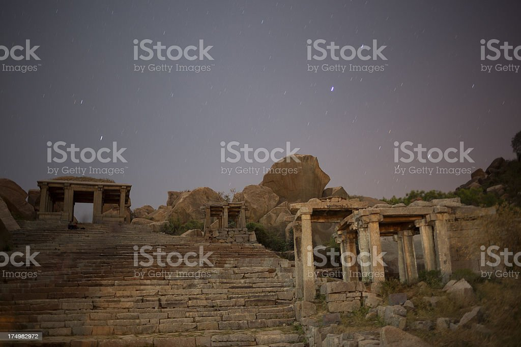 Hampi at night royalty-free stock photo