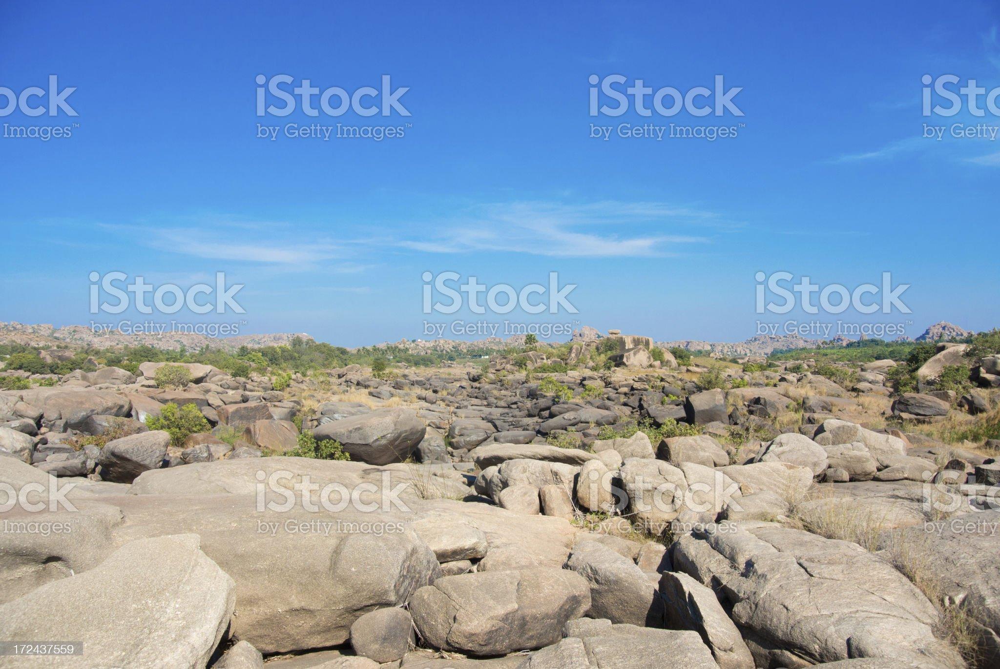 Hampi landscape (India) royalty-free stock photo