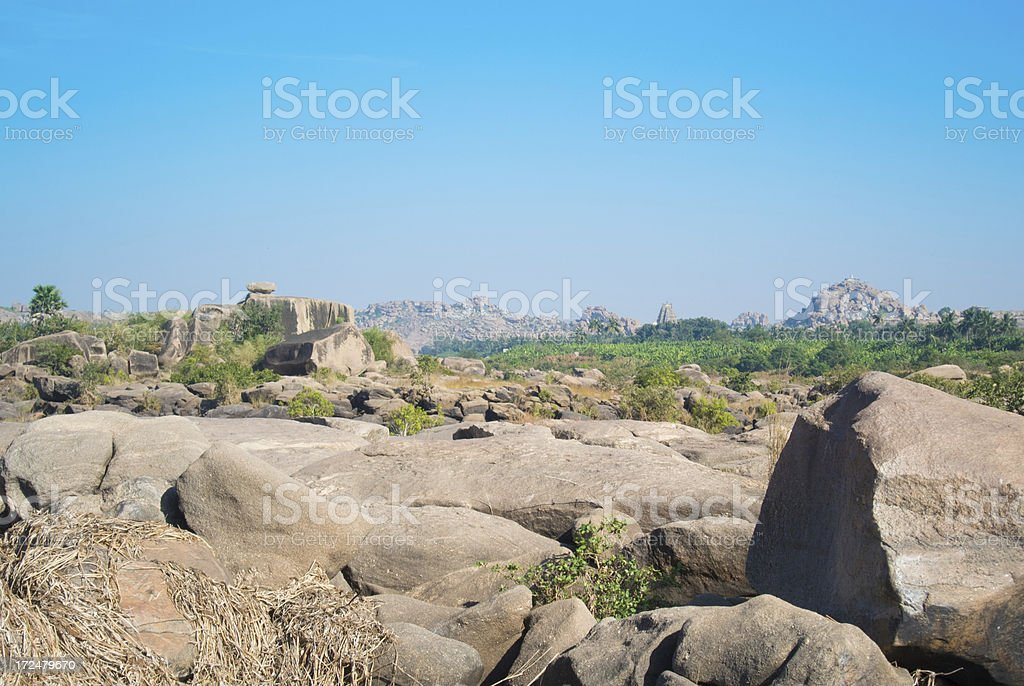 Hampi landscape (India) royalty-free stock photo
