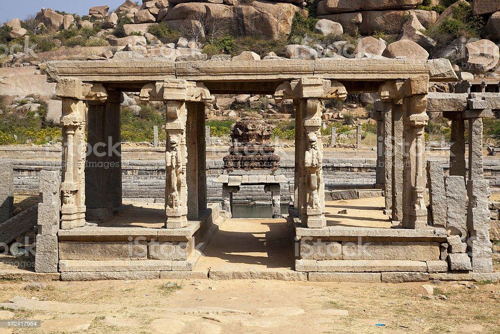 Hampi - Pushkarami royalty-free stock photo