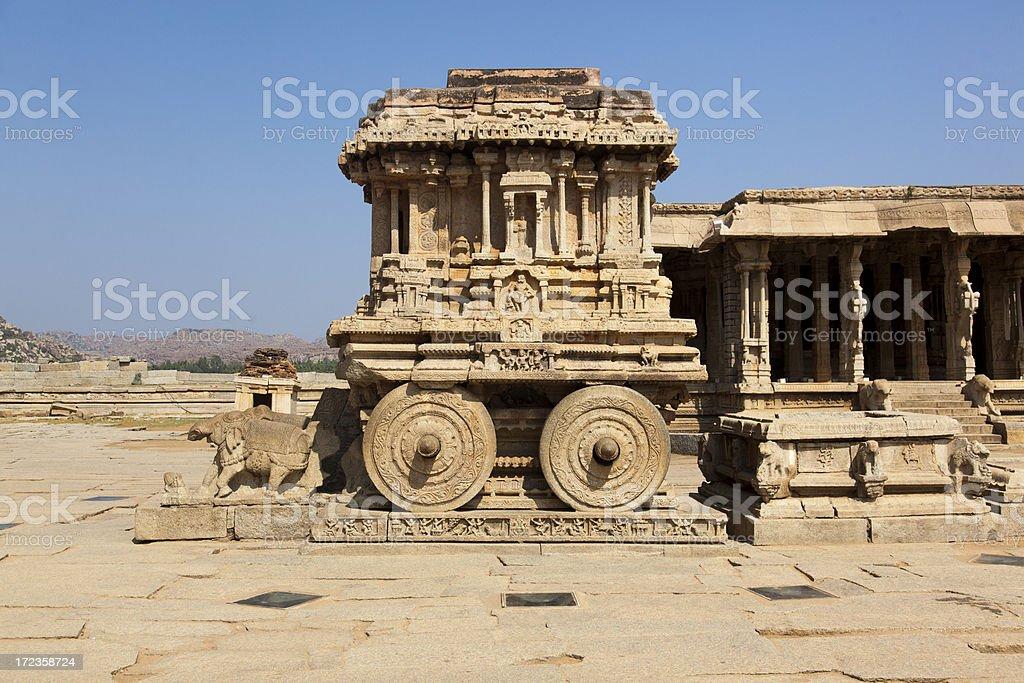 Hampi - Stone chariot royalty-free stock photo