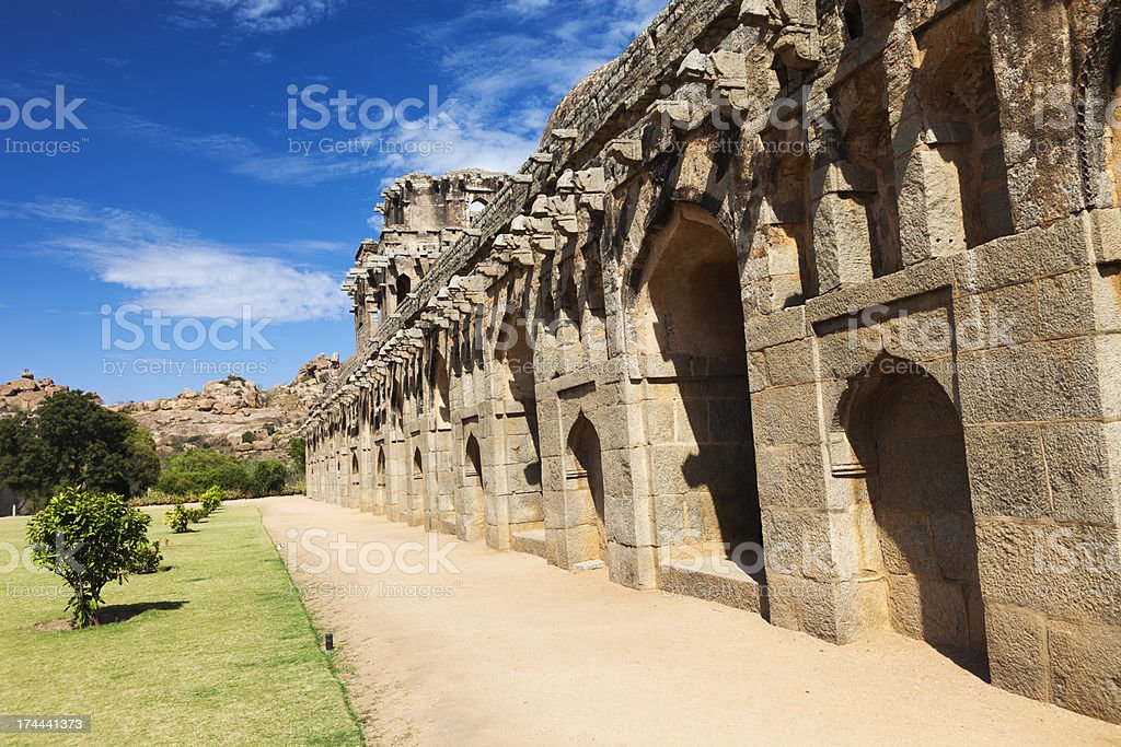 Hampi temple royalty-free stock photo
