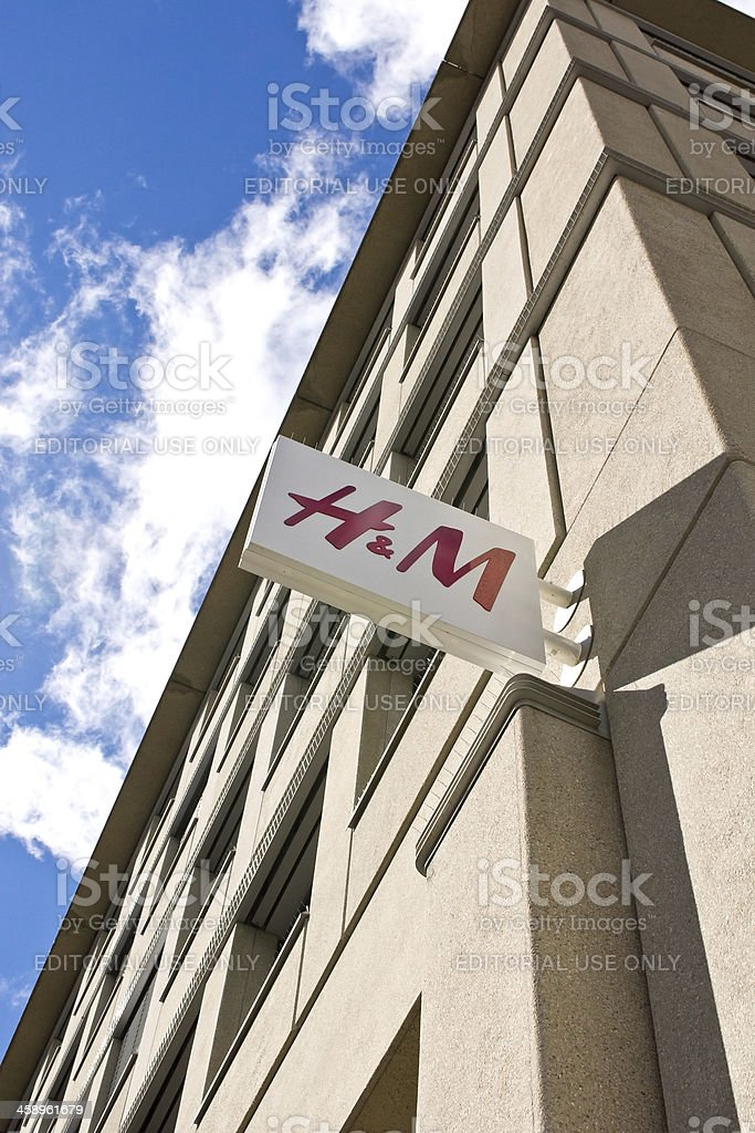 H&M Sign in Stuttgart stock photo