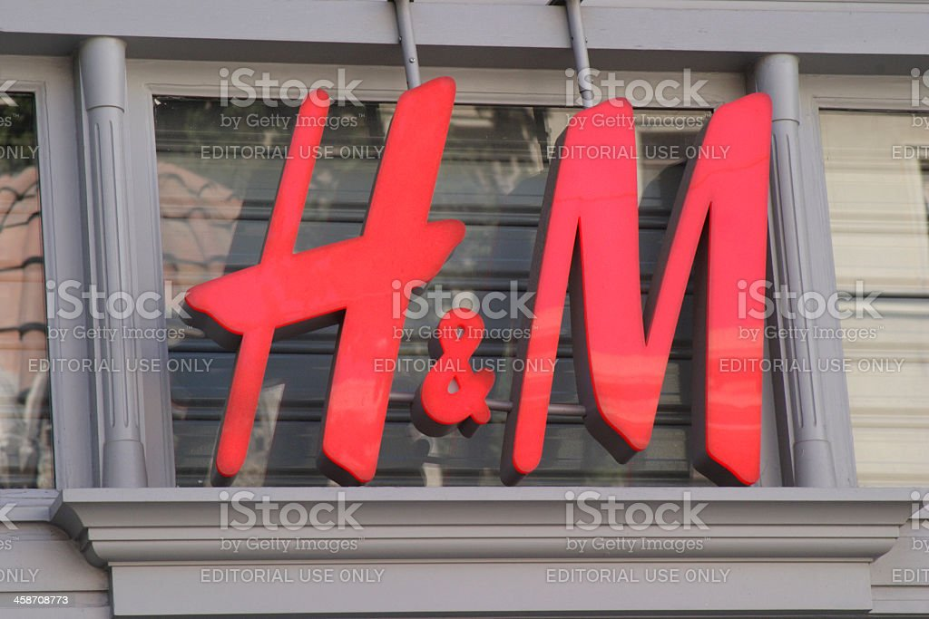 H&M sign royalty-free stock photo
