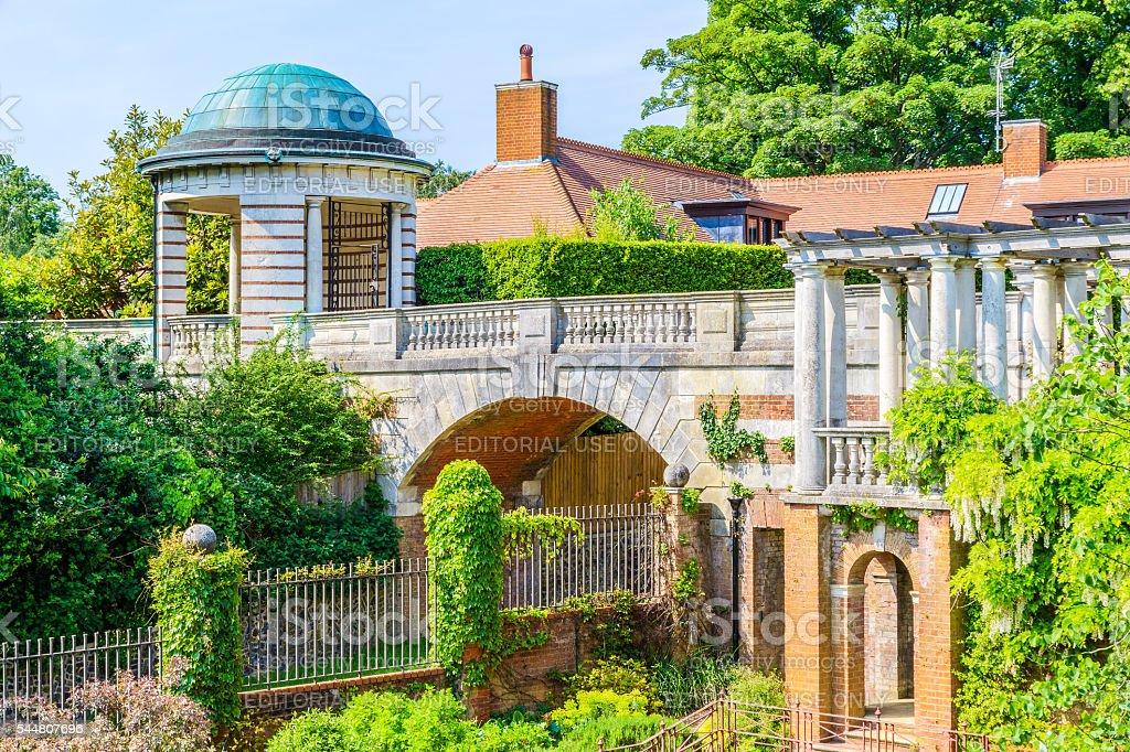 Hampstead Pergola and Hill Garden stock photo