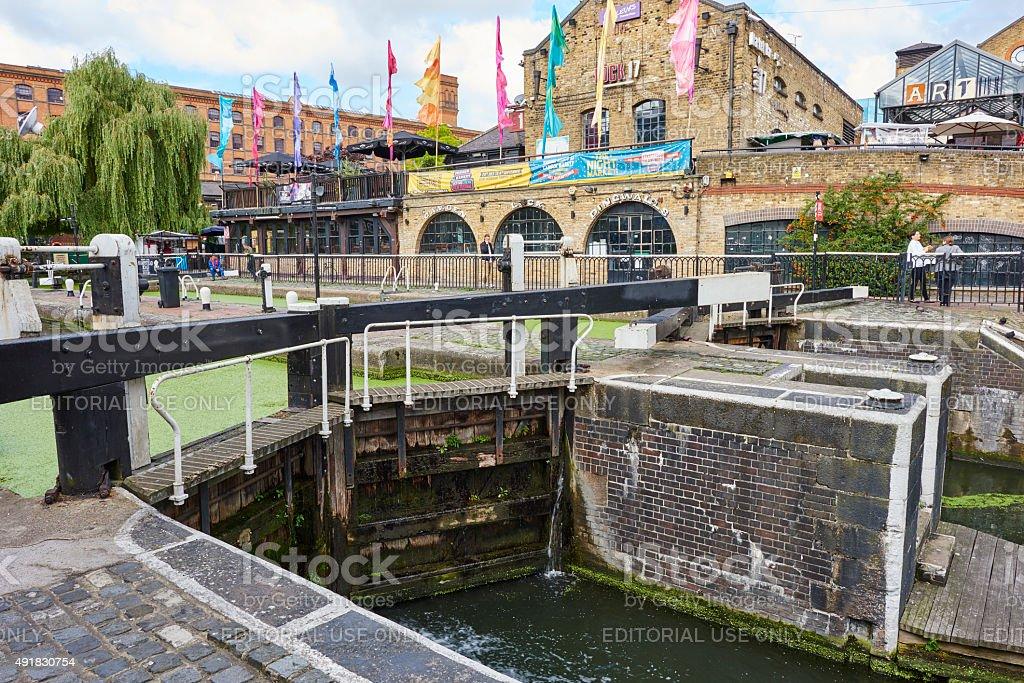 Hampstead Road Lock in London stock photo