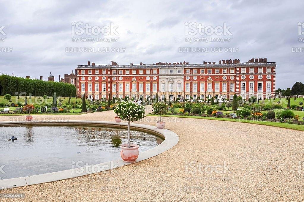 Hampton Court Palace in London stock photo