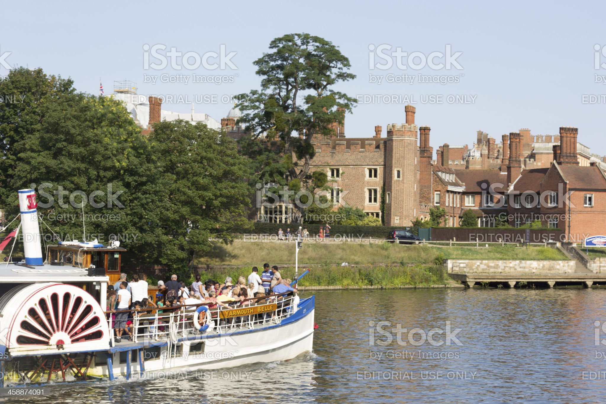 Hampton Court Palace in Richmond-upon-Thames, London royalty-free stock photo