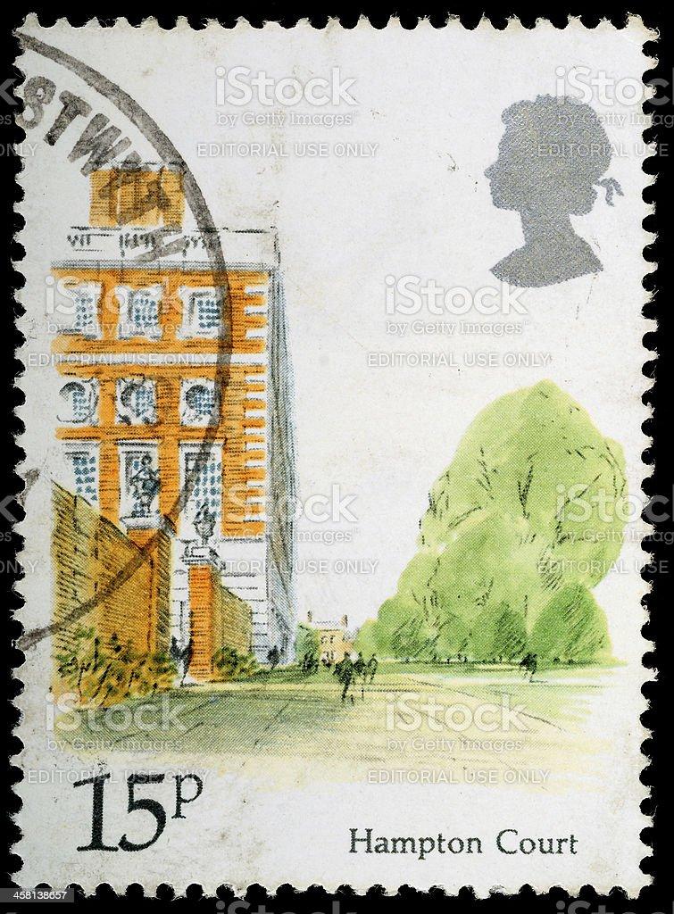 Hampton Court Postage Stamp royalty-free stock photo