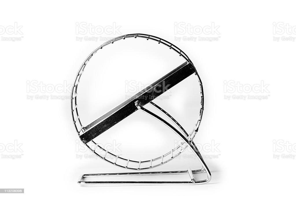 Hamster wheel stock photo