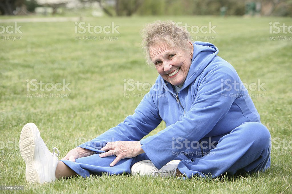 Hamstring Stretch royalty-free stock photo