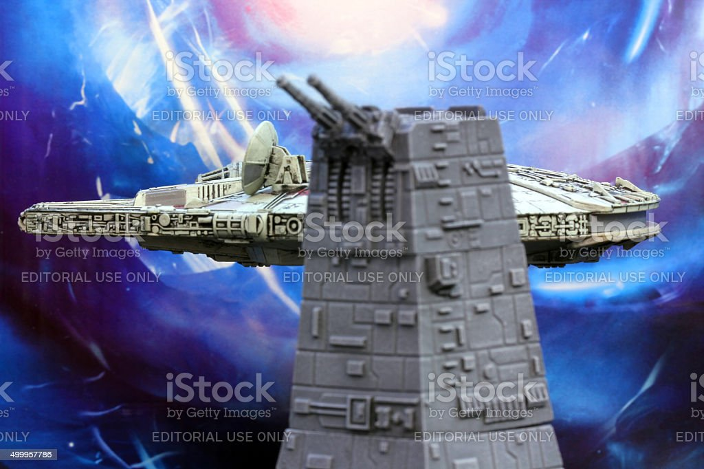 Han and the Death Star stock photo