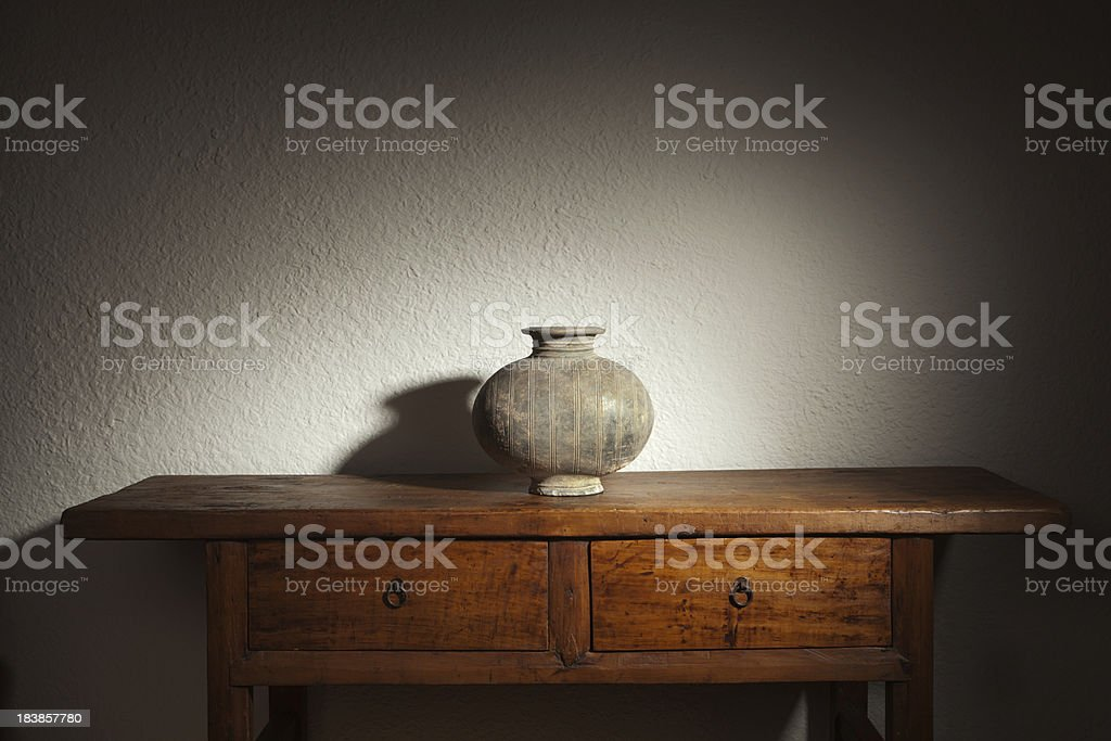 Han Dynasty Chinese Antique Cocoon Vase Hz stock photo