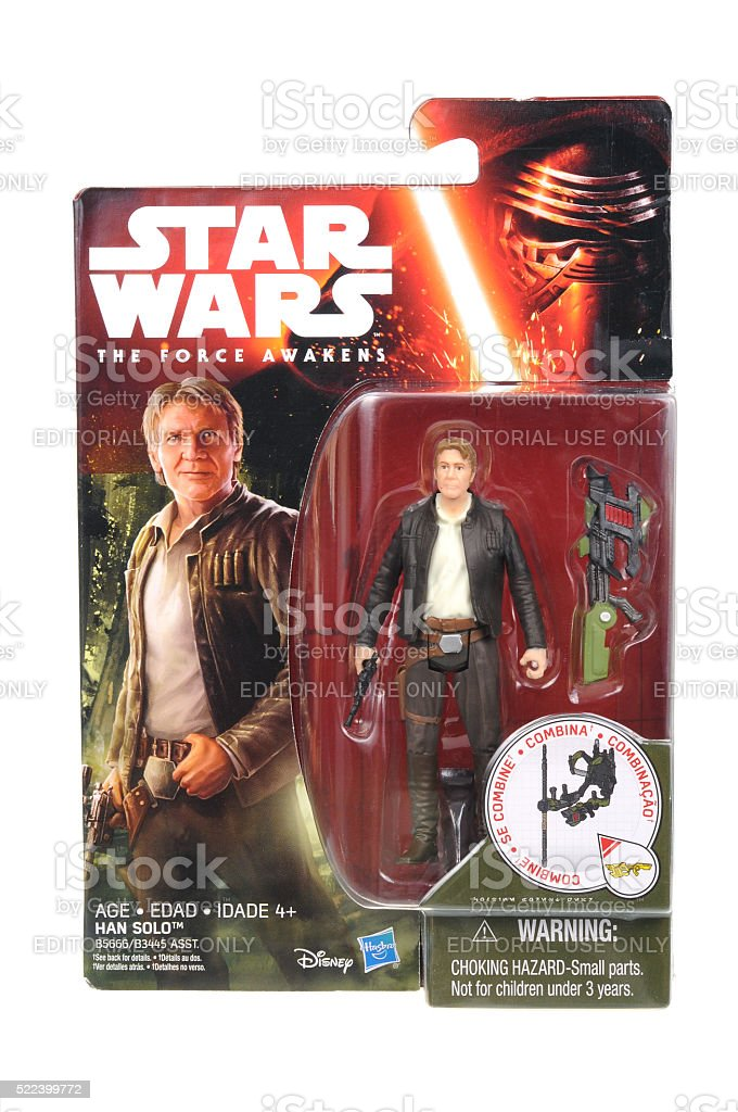 Han Solo Action Figure stock photo